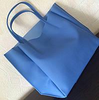 Сумка силиконовая прозрачная голубая