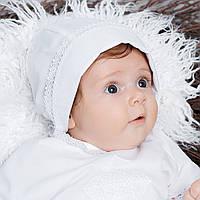 Детская шапочка-берет Винтажный от Miminobaby белый 44-48 белый