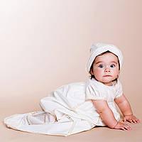 Детская шапочка-берет Винтажный от Miminobaby белый 36-40 кремовый