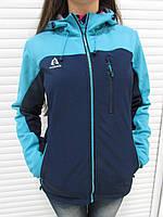 Женская демисезонная куртка Azimut (8178-17) голубая с синим код 737А