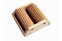 Массажер деревянный двухрядный для одной стопы