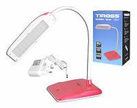 Лампа настольная светодиодная Tiross TS 57 сенсор красный