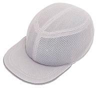 Каска-бейсболка ударопрочная со светоотражающей лентой ( цвет серый )