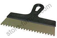 Шпатель зубчатый ПОЛЬША 200мм, зубья 8х8  мм