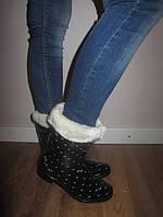 Модные женские резиновые сапоги