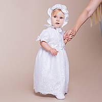 Детское платье Варечка от Miminobaby белое от 18 до 24 месяцев