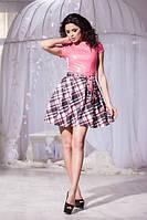 Женское стильное платье из эко кожи