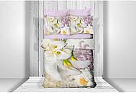 Постельное бельё 3D сатин - Altinbasak ABT28 Свадебный цветок