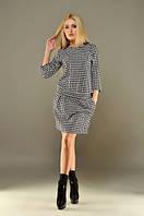 Платье женское гусиная лапка трикотаж