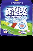 Weisser Riese Waschmittel Megaperls - жидкий стиральный порошок для цветного белья, 15 стирок