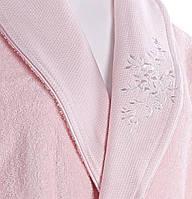 Женский махровый халат шалевый с вышивкой, Diandra ada