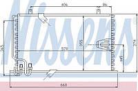 Конденсатор кондиционера BMW (производство Nissens ), код запчасти: 94408