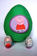 Большое яйцо-сюрприз с игрушками  СВИНКА ПЕППА