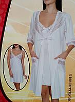Женский халат с ночной сорочкой №90800