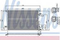 Конденсатор кондиционера Opel (производство Nissens ), код запчасти: 94597