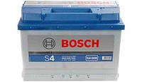Акб s4  silver   74 а*ч  -/+   680a (производство Bosch ), код запчасти: 0092S40080