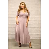 Длинное женское платье короткий рукав размеры с 48 по 72
