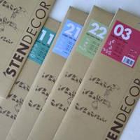 StenDecor Серия бокалы- трафарет для декорирования с использованием Starlike