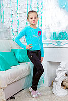 Модные детские лосины №108 (черные)