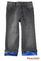 Джинсы для мальчика с синим отворотом хаки Craze8 Straight Cuffed Jeans 3T,4T, 5T