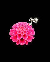 Розовый кулон из полимерной глины