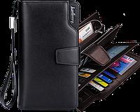 Стильный мужской кошелек клатч Baellerry Business черный