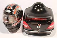 Кофр с стоп-сигналом 360*400*300 мм черный со шлемом