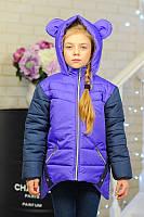 Модная куртка для девочки с ушками на капюшоне  Весна 2016