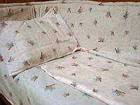 Комплект постельного белья для новорожденных + защита в детскую кроватку