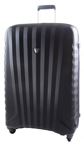 Пластиковый дорожный чемодан 100 л. Roncato UNO ZIP SPOT 5081/02/01 черный