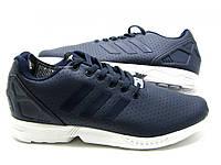 Кроссовки мужские Adidas Originals ZX Flux темно синие в коже