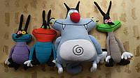 Набор Мягких игрушек из мультфильма Огги и Кукарачи