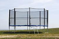 Батут Funfit 465 см с защитной сеткой и лесенкой