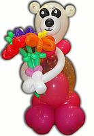 Фигура Мишка с букетом из воздушных шариков на День рождения