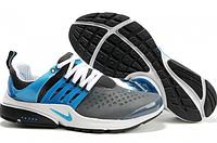 Кроссовки мужские Nike Air presto серого цвета с голубым