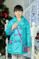 Модное демисезонное пальто для девочки + сумочка от производителя