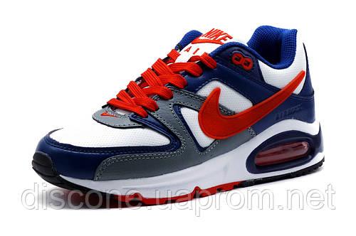 Кроссовки Nike Air Max, женские, подростковые, бело-синие, р. 39
