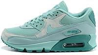 Женские кроссовки Nike Air Max 90 Premium (найк аир макс 90) бирюзовые