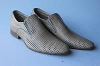 Мужские классические кожаные туфли,летние