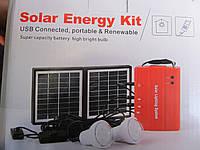 Аккумулятор на солнечной батарее Solar Energy Kit , зарядное устройство, 2 лампы