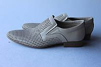 Летние кожаные мужские туфли