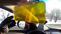 Антибликовый козырек солнцезащитный для дня и ночи HD Vision Visor (Clear View)