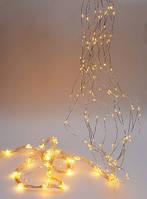 Гирлянда 3м., 450 мини- led (цвет теплый белый), 15 нитей, 30 диодов/ нить, постоянное свечение