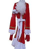 Костюм Деда Мороза (шуба, шапка, варежки, борода, парик)