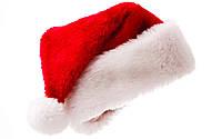 Шапка новогодняя Деда Мороза меховая, красная