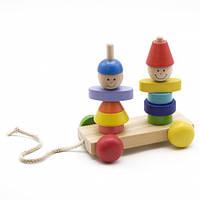 Каталка с пирамидками «Мальчик и девочка», МДИ