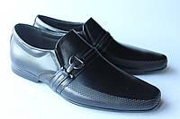 Мужские классические черные туфли, кожа натуральная