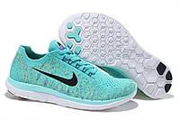 Кроссовки женские Nike free run 4 в бирюзовом