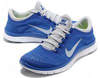 Кроссовки женские Nike free run 3.0 v5 голубого цвета с белым