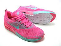 Женские кроссовки Nike Air Max Thea ярко розовые с бирюзой